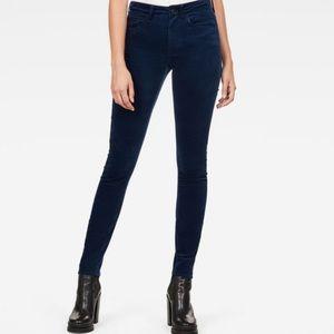 Forever 21 High Rise Super Skinny Velvet Pants